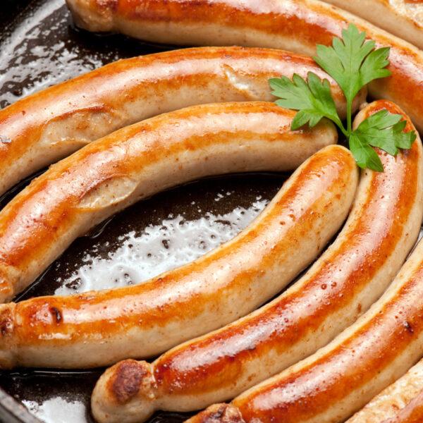 Bratwurst mit Sülze (Kulmbacher Art)