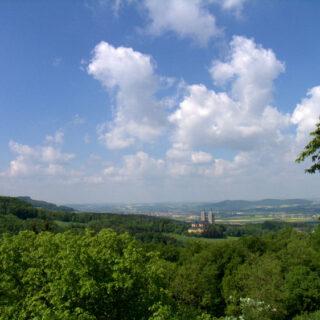 Klosterlangheim: Zum Weißen Kreuz und zum Viktor von Scheffel-Blick