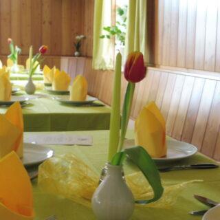 Stilvoll speisen in der Waldgaststätte Steinhaus. Foto: privat